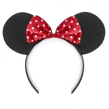 Hårbøjle med Minnie Mouse ører og sløjfe
