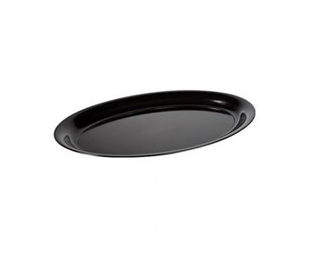 50 stk Plasttallerkner sort oval 26cm