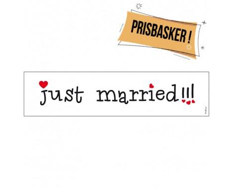 1 stk Just Married Nummerplade