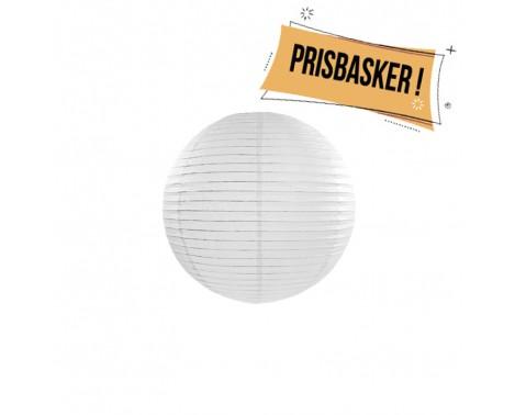 Rispapirlampe Hvid 25 cm