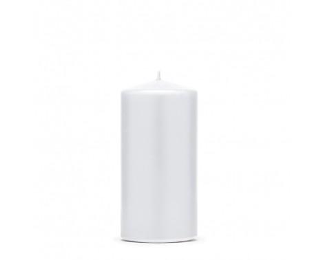Bloklys 12 cm - Hvid