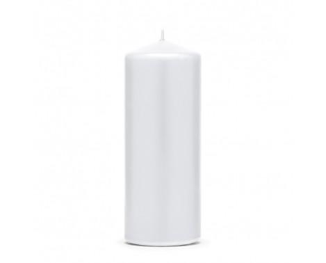 Bloklys 15 cm - Hvid