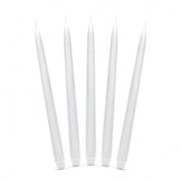 10 stk Hvid antiklys 24 cm