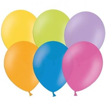"10 stk Standard mix farver balloner - str 12"""