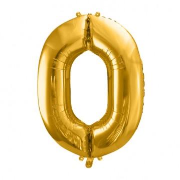 Guld 0 tal ballon - ca 35 cm