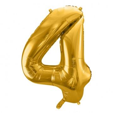 Guld 4 tal ballon - ca 35 cm