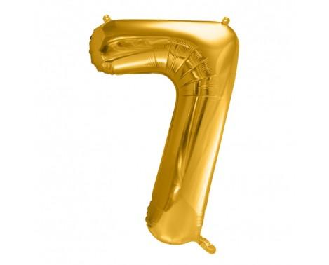 Guld 7 tal ballon - ca 35 cm