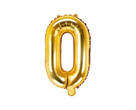 Guld O bogstav ballon -  ca 35 cm