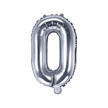 Sølv Q bogstav ballon - ca 35 cm