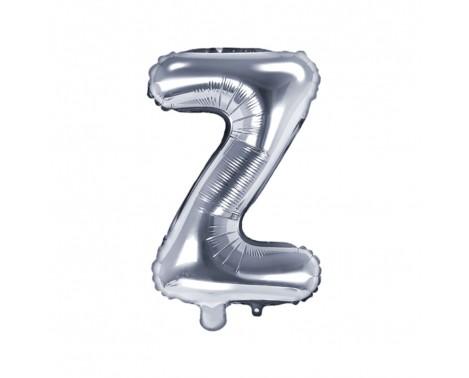 Sølv Z bogstav ballon -  ca 35 cm