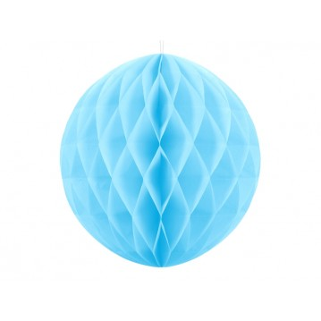 Himmelblå honeycomb 40 cm - papir bikube