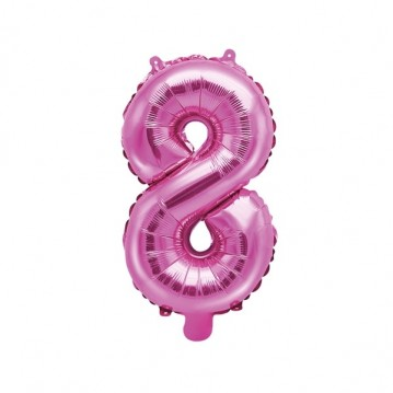 Hot pink 8 tal ballon - ca 35 cm
