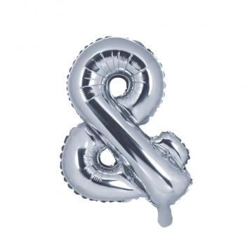 Sølv & ballon - ca 35 cm