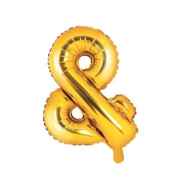 Guld & ballon - ca 35 cm
