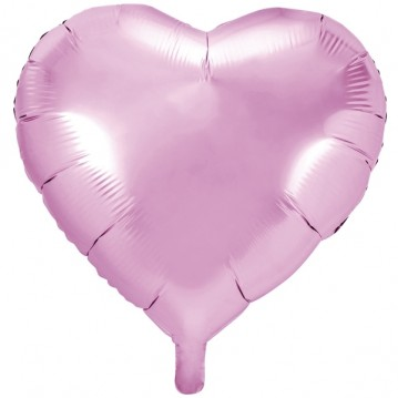 "Folieballon 24"" Hjerte Lys pink"