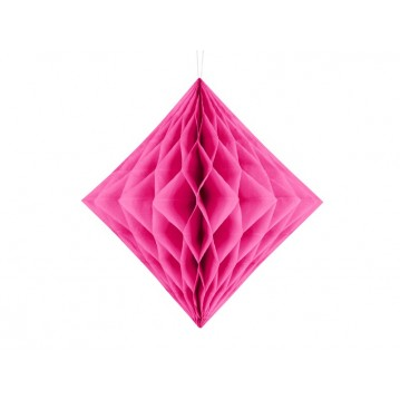Mørk pink diamant honeycomb 20 cm