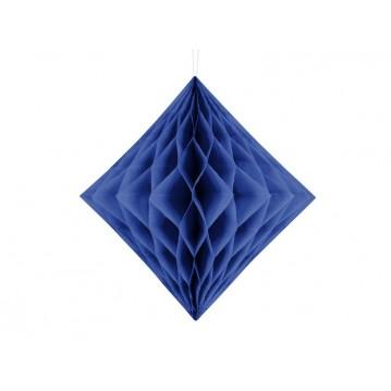 Mørkeblå diamant honeycomb 20 cm