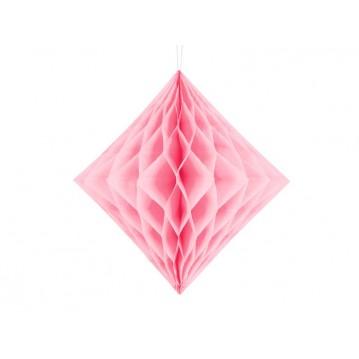 Lyserød diamant honeycomb 20 cm
