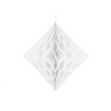 Hvid diamant honeycomb 30 cm