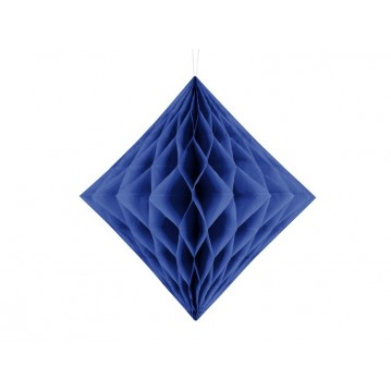 Mørkeblå diamant honeycomb 30 cm