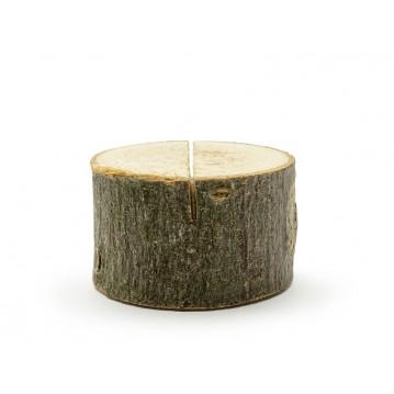 6 stk Bordkortholder af træ 3 - 4 cm i diameter