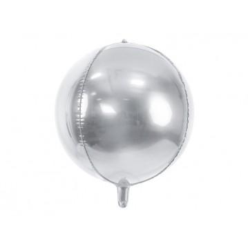 "Folieballon bold 4D - sølv 16"""