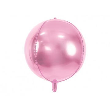 "Folieballon bold 4D - lyserød 16"""