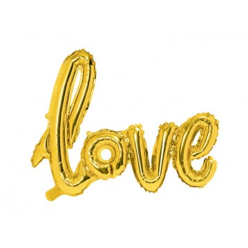 """Foil Balloon Love, gold, 73x59cm"""