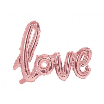 """Foil Balloon Love, 73x59cm, rose gold"""