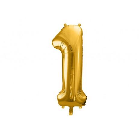 Guld 1 tal ballon - ca 86 cm