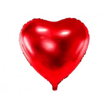 """Rødt hjerte 24"""" folieballon"""