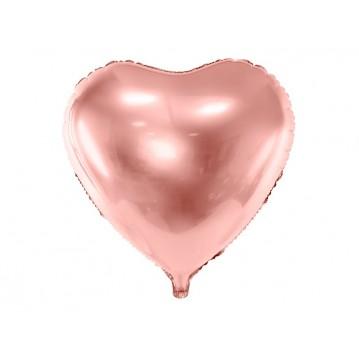 """Rose guld hjerte 24"""" folieballoner"""
