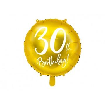 """30 års fødselsdag folieballoner 18"""""""