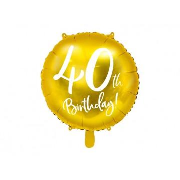 """40 års fødselsdag folieballoner 18"""""""