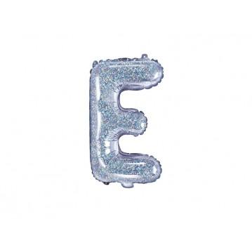 Holografisk E bogstav ballon - ca 35 cm