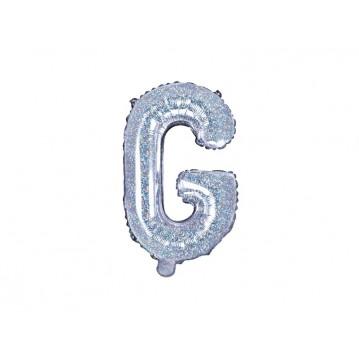 Holografisk G bogstav ballon - ca 35 cm