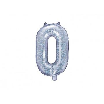 Holografisk O bogstav ballon - ca 35 cm