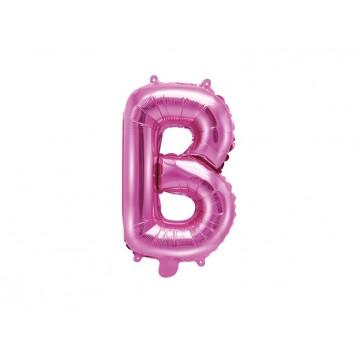 Hot pink B bogstav ballon - ca 35 cm