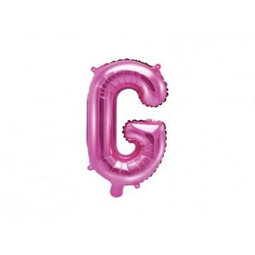 Hot pink G bogstav ballon - ca 35 cm