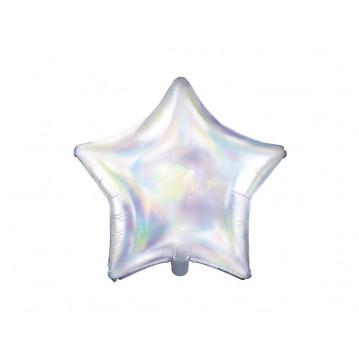 "Iridescent Stjerne 18"" folieballon"
