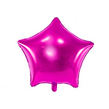 "Hot pink stjerne 18"" folieballon"