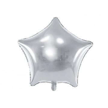 """Sølv Stjerne 18"""" folieballon"""