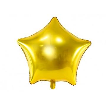 "Guld Stjerne 18"" folieballon"