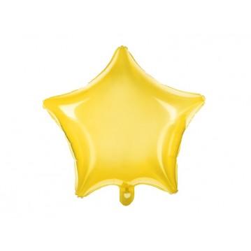 "Neon gul stjerne 18"" folieballon"