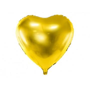 """Guld hjerte 18"""" folieballoner"""