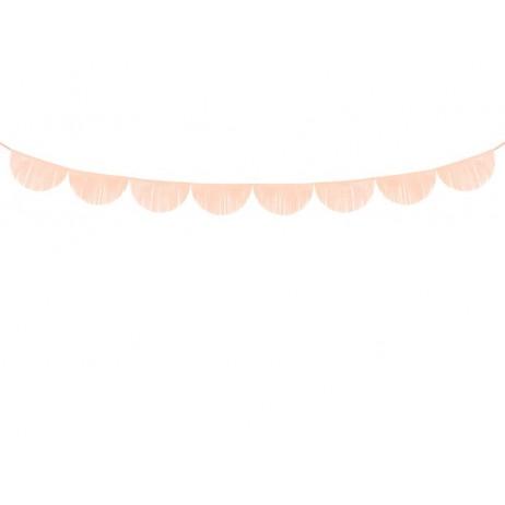 3m Guirlande med bølger af lys fersken 32cm frynser