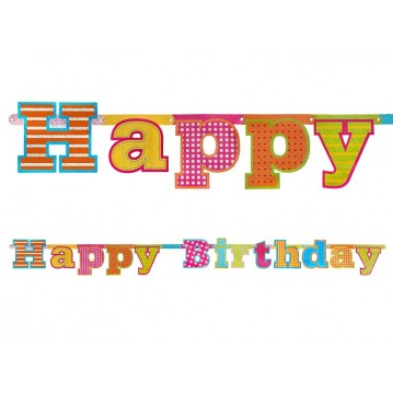 Happy Birthday banner - 166 cm