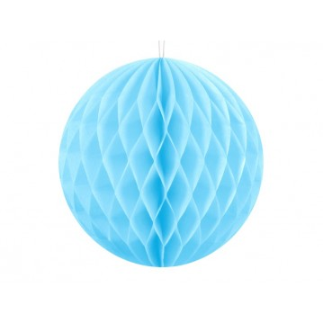 Himmelblå honeycomb 10 cm - papir bikube