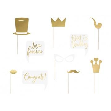 10 Stk. Props til bryllup - Fotos sticks