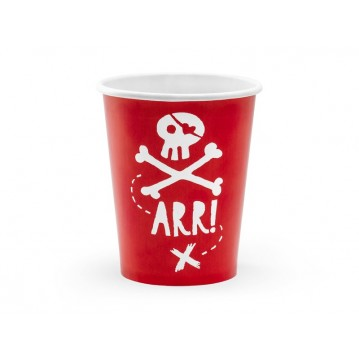 6 stk Papbæger Pirates Party 220ml
